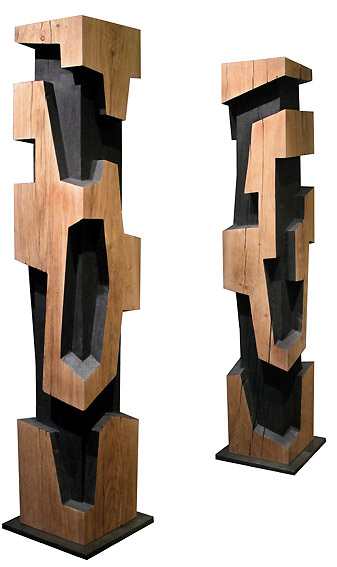 alban lanore sculptures contemporaines totem colonne. Black Bedroom Furniture Sets. Home Design Ideas